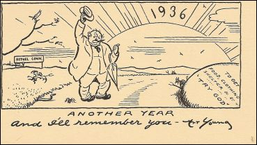 New Year's greeting from Art Young, 1936