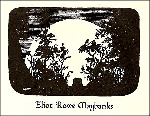 """Antioch bookplate design """"Against the Moon"""""""