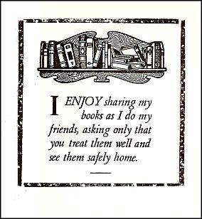 Antioch Bookplate design F-431
